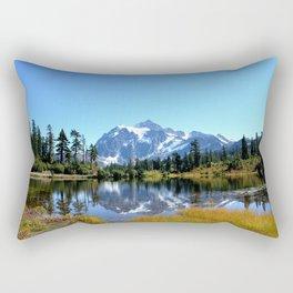 Mount Shuksan reflected on Picture Lake Rectangular Pillow