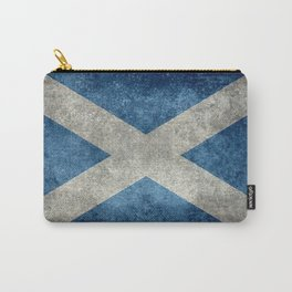 Scottish Flag - Vintage Retro Style Carry-All Pouch
