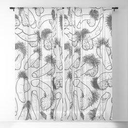 Peens Schlongs Weenies Sheer Curtain