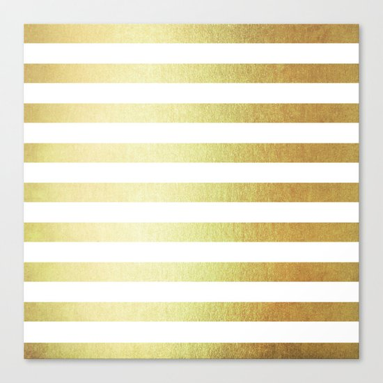 Simply Striped 24K Gold Canvas Print