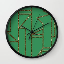 Ladders B (green) Wall Clock