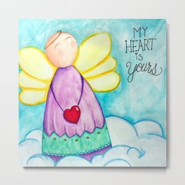 February Angel - My Heart is Yours Metal Print