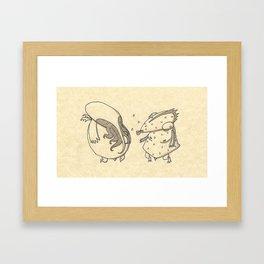 Cthulhu meet Dagon Framed Art Print