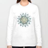 chakra Long Sleeve T-shirts featuring Heart Chakra by brenda erickson