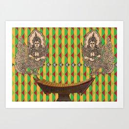 Burmese Angels and Xylophone Canvas print Art Print