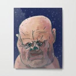 Space Pig Man Metal Print