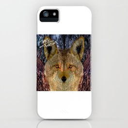 Long Night Coyote iPhone Case