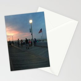 Ocean City at Dusk Stationery Cards