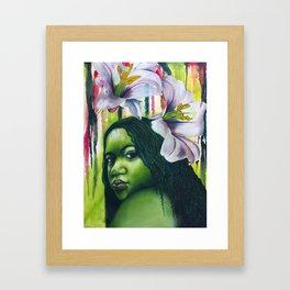 Green Lilly Framed Art Print
