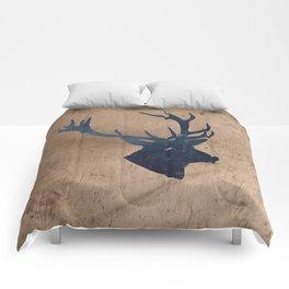 Grunge Deer Stag Simple Illustration for Men Comforters