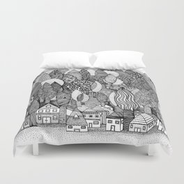 Mysterious Village Duvet Cover