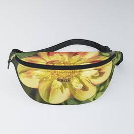 Dahlia Flower and Hoverfly Fanny Pack