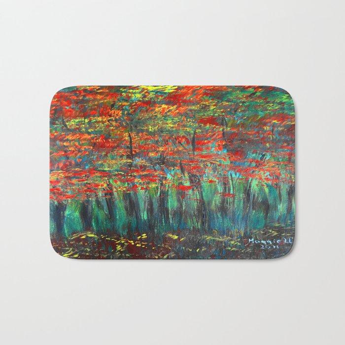 Forest Abstract Bath Mat