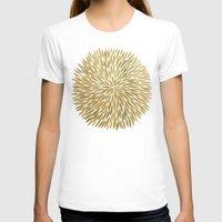 golden T-shirts featuring Golden Burst by Cat Coquillette