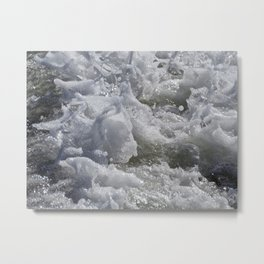 Foaming Sea Metal Print