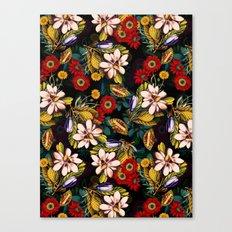 Japanese Floral Pattern Canvas Print