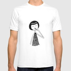 Lipstick Mens Fitted Tee SMALL White