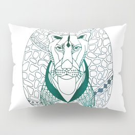 The Tribal Lioness Pillow Sham