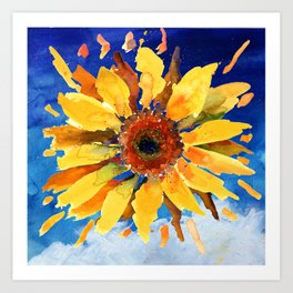 The 'Sun' Flower Art Print
