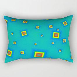 Pattern of disorganized multicolored paintings Rectangular Pillow