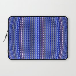 Mega Bright Indigo Lavender Blue Psychedelic Pattern Laptop Sleeve