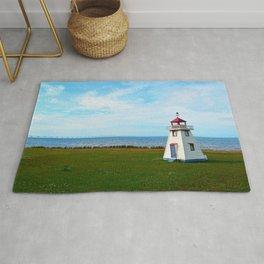 Long Bridge and Tiny Lighthouse Rug