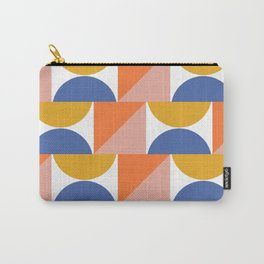 Retro Summer Beach Colors and Shapes in Blue, Orange, and Yellow Carry-All Pouch