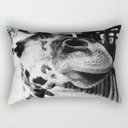 Black And White Giraffe Nose Rectangular Pillow