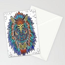 lion mandala Stationery Cards