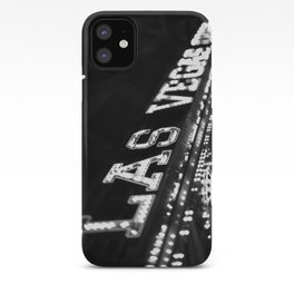 Vintage Las Vegas Sign - Black and White Photography iPhone Case