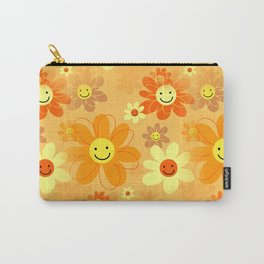 Happy Hipster Flowers Carry-All Pouch