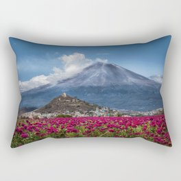 Popocatepetl Volcano Puebla Mexico Rectangular Pillow