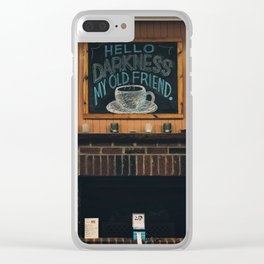 Hello, Darkness Clear iPhone Case