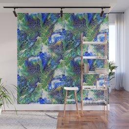 Blue Lacing Wall Mural