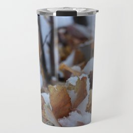 Snowy Birch Tree Travel Mug