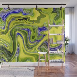 Yellow Blue Melted Art Wall Mural