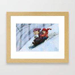 Sledding Framed Art Print