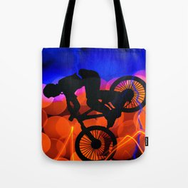 BMX in Light Crystals and Lightning Tote Bag