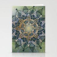 chakra Stationery Cards featuring Heart Chakra by brenda erickson