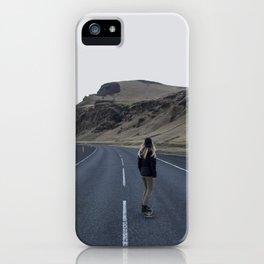 Longboarding Girl iPhone Case