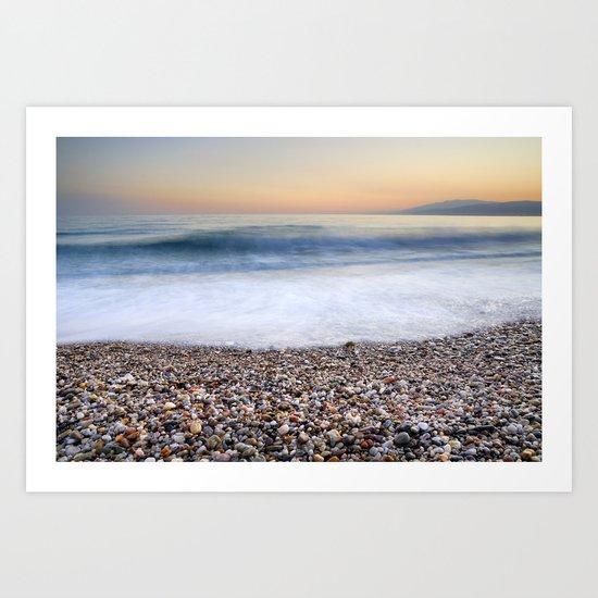Soft waves at Amoladeras beach Art Print