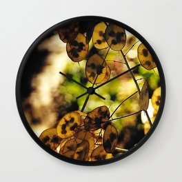 Money Plant in the Sunset Wall Clock