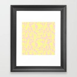 pink yellow Framed Art Print
