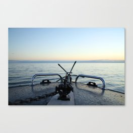 Boating Away Canvas Print