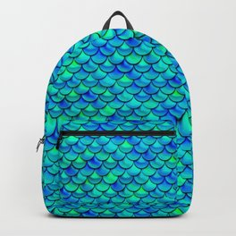 Aqua Blue Scales Backpack