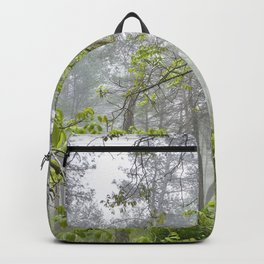 Foggy morning into the dream forest Backpack