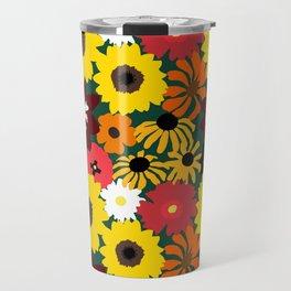 Retro Fall Flowers Travel Mug