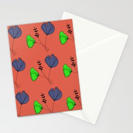 Flowers with Orange Stationery Cards