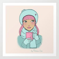 coffe Art Prints featuring Coffe time by Theresa Lue