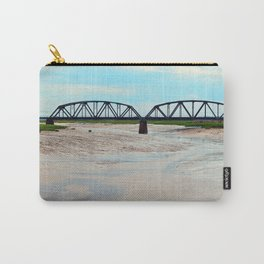 Low Tide at the Sackville Train Bridge Carry-All Pouch
